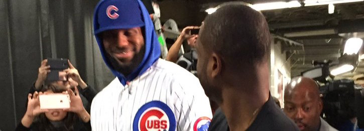 Lebron James Wears Cubs Jersey In Chicago?! (VIDEO)