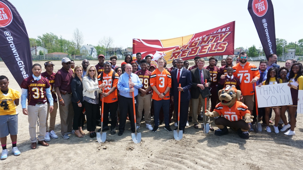 People: Browns Donate Field To John Adams H.S.